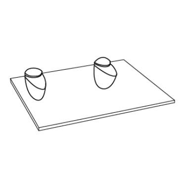 Крепления для полок, стекла и зеркал