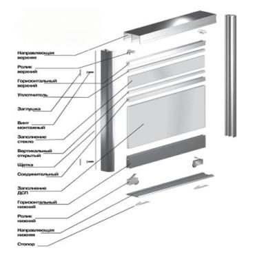 Алюминиевая раздвижная система