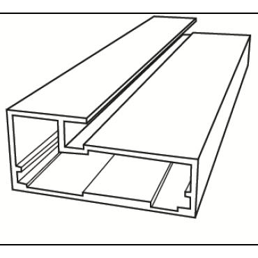 Профиль алюминиевый фасадный
