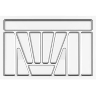Лоток для столових приладів Standart , Verso - 800 мм білий