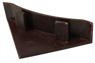 Заглушка на плинтус  коричневая тёмная №64