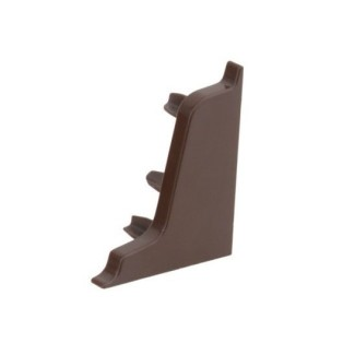 Заглушка на плинтус 117 коричневая