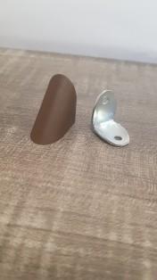Кутик одинарний метал/пластик венге