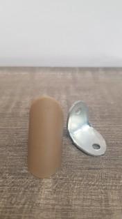 Кутик одинарний метал/пластик дуб рустикаль