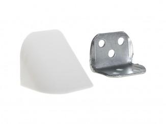 Кутик подвійний метал/пластик білий