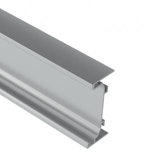 Профиль C алюминиевый для фасадов без ручек 3,5м LED (nr 050 016 05)