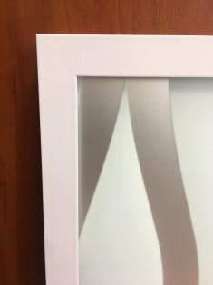 Профиль алюминиевый рамочный квадратный D-1 белый глянец /6,0