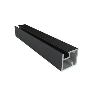 Профиль алюминиевый рамочный квадратный D-1 черный браш /6,0
