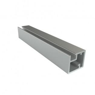 Профиль алюминиевый рамочный квадратный D-1 серебро(алюминий) /6,0