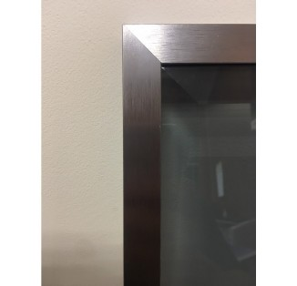 Профиль алюмінієвий рамковий квадратний D-4 графіт /6,0