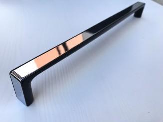 Ручка мебельная C-5459-320 G2-P59 (хром + черный глянец) Nomet