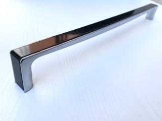 Ручка мебельная C-5459-320 P59-G2 (черный глянец + хром) Nomet
