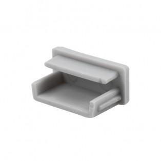 Заглушка профиля LED накладная алюминий (OP2-ZASL-7X16-SZ)
