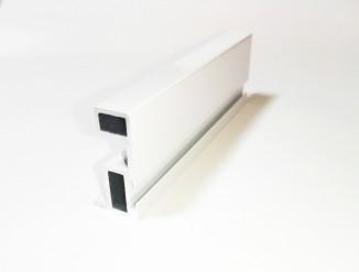 БАВАРИЯ вертикальный профиль с пазом под уплотнитель белый глянец