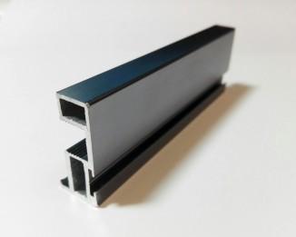 БАВАРИЯ вертикальный профиль с пазом под уплотнитель графит матовый
