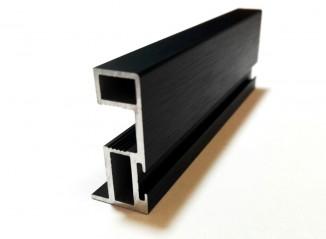 БАВАРИЯ вертикальный профиль с пазом под уплотнитель черный браш