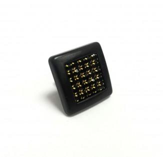 Ручка DG 6065 MADRID DUGME мат. черный+черный камень