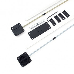 Выравниватель двери L-2017 мм Linken System (из 2 частей, алюм накладки)