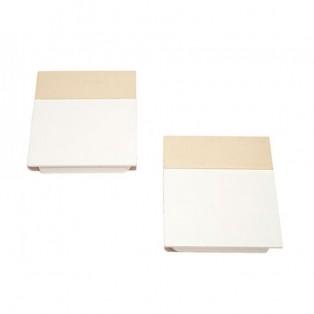 Накладки лифта подъёмного DTC SQ белые + полоса матовый никель SQJS01C комплект левая + правая