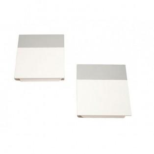 Накладки лифта подъёмного DTC SQ белые + полоса светло-серая SQJS01A комплект левая + правая