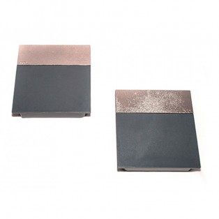 Накладки лифта подъёмного DTC SQ серые + полоса матовый никель SQJS01D комплект левая + правая