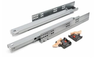 Напрямна прихованого монтажу DTC L-600 повного висуву Tip-on FF10600HX