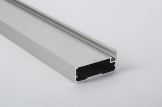 Фасадний алюмінієвий профіль М21 L=5950 мм срібло BRUSH