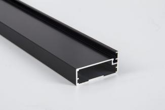Фасадний алюмінієвий профіль М21 L= 5950 мм чорний BRUSH м.п.