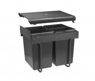 Сегрегатор GTV для кухонних шаф 400 мм 20+2х10л Графіт (PB-45-202X10-60A)