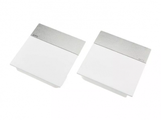 Накладки ліфта підйомного SQ біла смуга матовий нікель SQJS01C комплект ліва права DTC