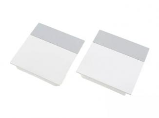 Накладки ліфта підйомного SQ білі світло-сіра смуга SQJS01A комплект ліва права DTC