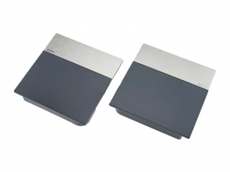 Накладки ліфта підйомного SQ сірі смуга матовий нікель SQJS01D комплект ліва права DTC