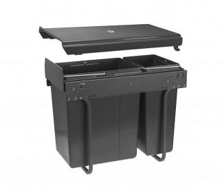 Сегрегатор GTV для кухонних шаф 300 мм 20*10л графіт (PB-45-002010-60A)