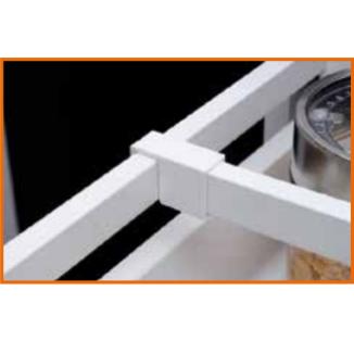 Соединитель для поперечного  квадратного релинга Modern Box GTV белый