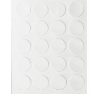 Заглушка самоклеющаяся белый глянец 590