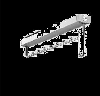 Вешалка выдвижная 55*500*140 хром(микролифт)Komandor